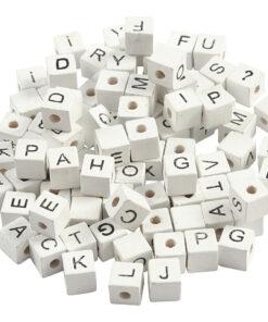 Buchstabenperlen Holz