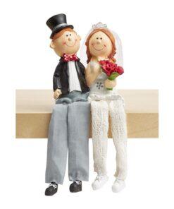 Hochzeitspaar Kantenhocker