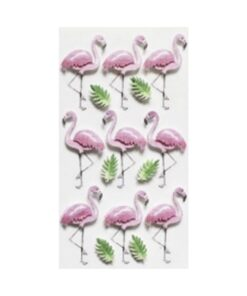 3D Sticker Flamingos