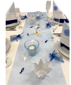 Tischset Taufe blau