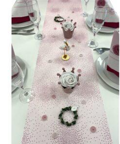 Tischset Taufe rosa